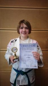 Viola Fritsche erhält die Gold-Medaille