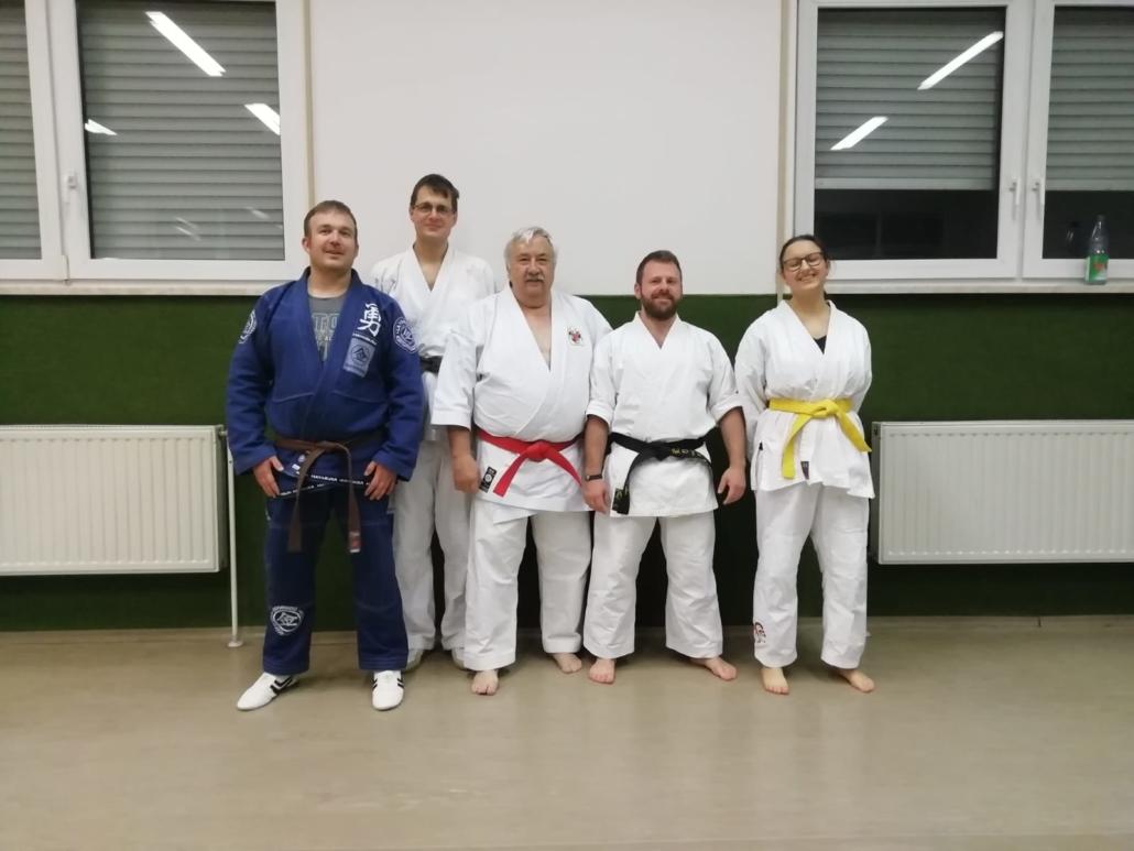 Rick Clark, Kilian und die Mitgliede der Kampfkunstschule Amberg